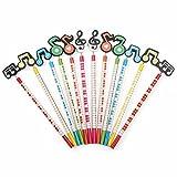 Hosaire 6Pcs/Lot Crayon à Papier HB Bois Crayon Mignonne Motif de Note de musique Kawaii Fournitures scolaires Papeterie Cadeaux de idéaux pour les enfants Couleur aléatoire