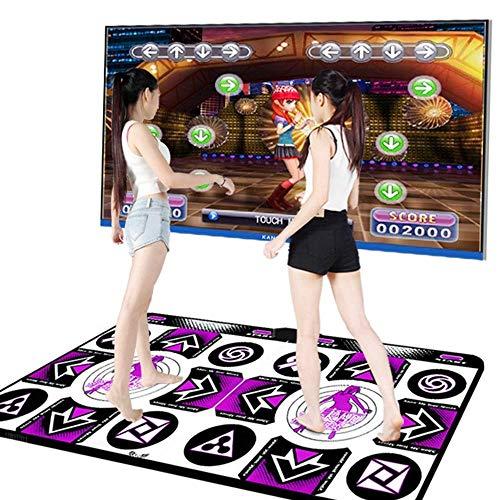 MYEUIE Doppeltanzmatte Drahtlose Spielmatte Schnurlose Faltbare rutschfeste TV Computer Dual-use Somatosensorische Tanzmatten Für Erwachsene Kinder (Englische Version)