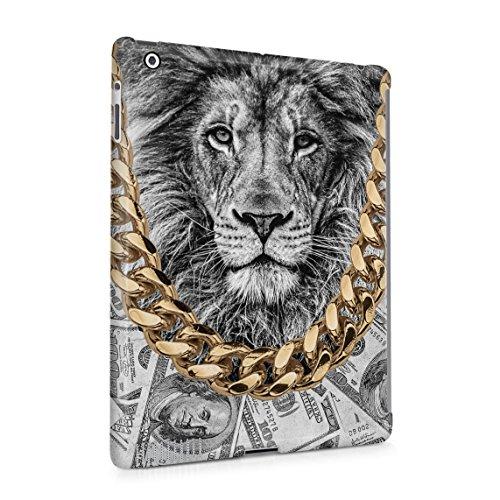 Gold Chains Lion King Cash Billionaire Luxury High Life Swag Dope Trill Dünne Rückschale aus Hartplastik für iPad 2 & iPad 3 & iPad 4 Tablet Hülle Schutzhülle Slim Fit Case cover (Cheetah Wild Gold)