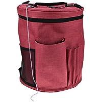 taottao bolsa de gamuza de Oxford ligero portátil lana ganchillo hilo de almacenamiento organizador bolsa, C