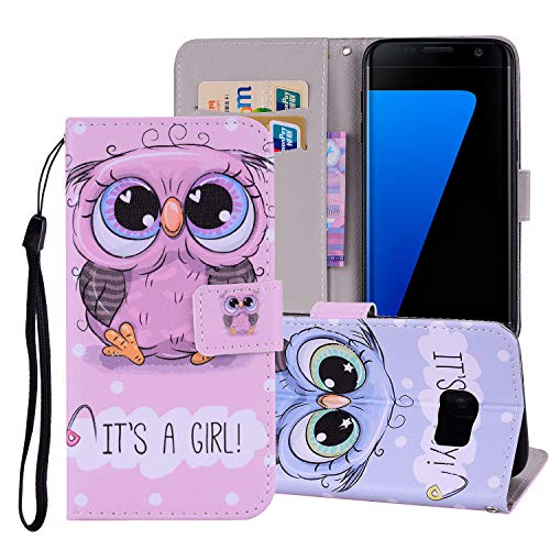 V-Ted kompatibel mit Samsung Galaxy S5 Flip Case Lederhülle Handytasche Handyhülle Schutzhülle Ledertasche klapphülle Tasche Etui Hülle Leder - Süße Eule