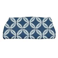 "E by design Tidepool Geometric Print Bath Towel, 28"" x 58"", Blue"