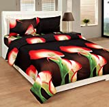 SLICK Polyester Double Bedsheet with 2 P...