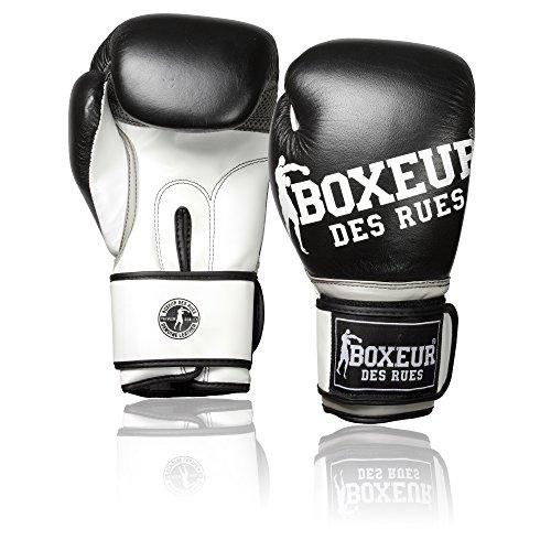 Boxeur Des Rues Fight Activewear Guantone Impact da Boxe con Logo, Nero, 14 Oz