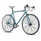 "28"" Zoll FIXIE RENNRAD FAHRRAD CHRISSON FG ROAD 1.0 FIXED GEAR SINGLE SPEED light blau matt"