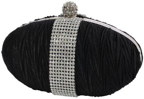 EyeCatch - Elegantes Damen Clutch Brauttäschchen Abendtasche Handtasche schwarz