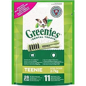 GREENIES Friandises pour Chien Mini 2-7 Kg, 66 Sticks Dentaires (6 Sachets de 85g)