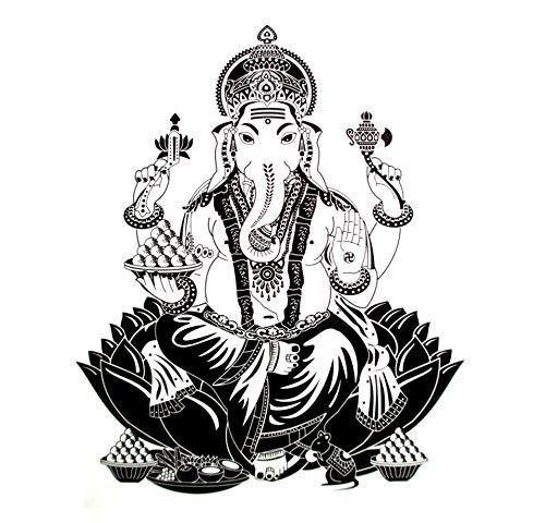 ruofengpuzi 2St Indian Idol Wasserdicht Temporäre Tätowierung-Aufkleber Elefant Wassertransfer Tattoo Fake Tattoo Flash-Tattoo Für Mädchen Weiblich