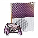 eXtremeRate Purple und Gold Chameleon Full Faceplates Personalisierte Skin Decal Stickers Aufkleber für Microsoft Xbox One S Konsolen Controller Kinect