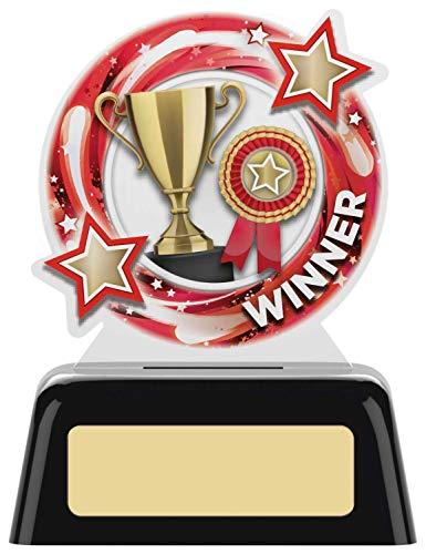 Womack Graphics Winner PK119A Runder Acryl-Preis 10,2 cm mit kostenloser Gravur bis zu 50 Buchstaben