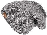 Guru-Shop Beanie Mütze, Nepal Strickmütze, Herren/Damen, Grau, Size:One Size, Mützen Alternative Bekleidung