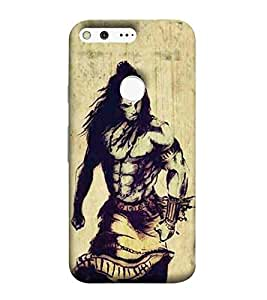 For Google Pixel XL shiva, god, baghwan, lord, jesus, cristrian, allah Designer Printed High Quality Smooth Matte Protective Mobile Case Back Pouch Cover by APEX