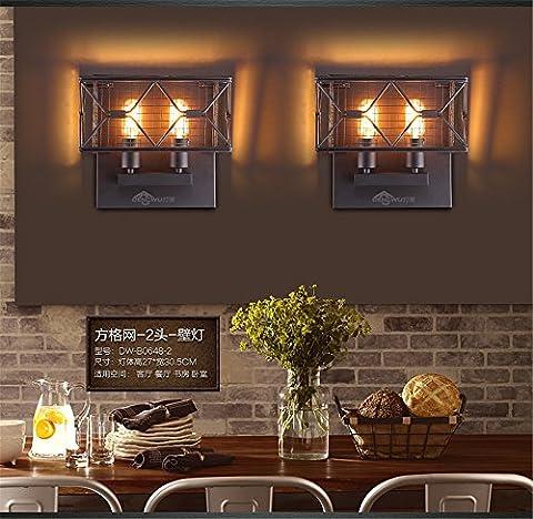 Jubaopen Vent industriel Loft applique murale retro restaurant et bar