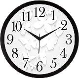 IT2M Round Plastic Wall Clocks (30 cm x 30 cm x 4 cm, Pearl White, JIN20)