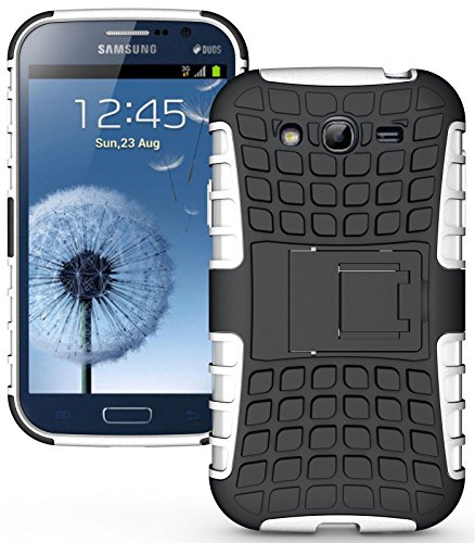 Heartly Flip Kick Stand Hard Dual Armor Hybrid Rugged Bumper Back Case Cover For Samsung Galaxy S3 S 3 i9300 - White  available at amazon for Rs.399