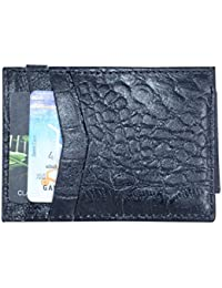 Louis Cardy Crocodile Embossed Genuine Leather Magnetic Money Clip Cum Wallet With Free 7 Pcs Disposable Razors...