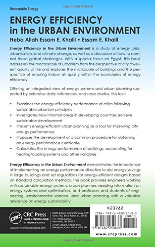 Energy Efficiency in the Urban Environment (Mechanical and Aerospace Engineering Series)