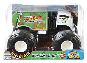 Hot Wheels - Monster Trucks 1:24, Juguete de Coches y Choques (Mattel FYJ82)