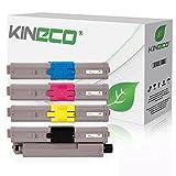 4 Kineco Toner kompatibel zu Oki C542-DN MC573-DN C532-DN MC563-DN