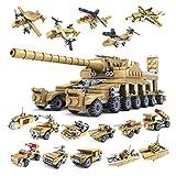 Neborn 16 in 1 Illumina i Giocattoli per i Blocchi di Bambini Città dei Lego compatibili Squadra Speciale dell'aquila Nera Carro Armato di aeromobili Figure di Forza di Combattimento Giocattoli