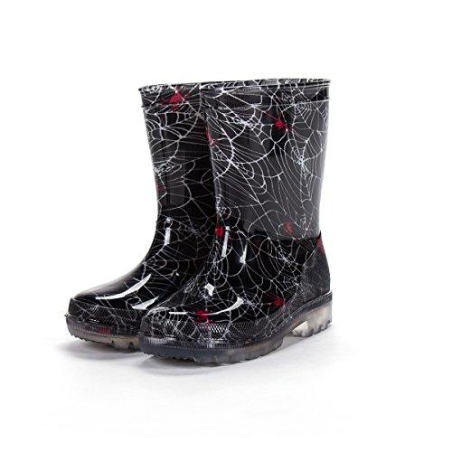 diMio - Bottes de pluie à LED clignotants Pointures 26 à 31 pour enfant avec 5 motifs amusants Noir - Benetzt