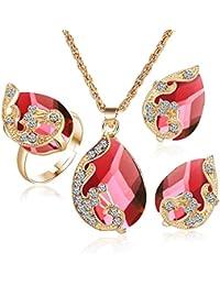 c117ba86e4ea Amazon.es  Anillos Perlas - Juegos de joyas   Mujer  Joyería