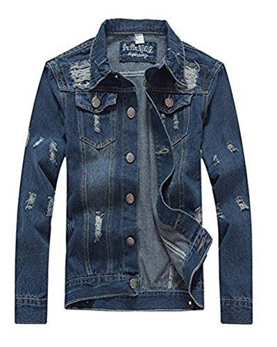 Brinny Herren Jeansjacke Warm Mantel Winterjacke Baumwolle (EU XXS/Asian M, Style 1)