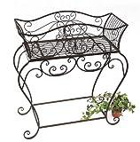 DanDiBo Blumenständer 85 cm Blumenbank 12554 XL Metall Blumenregal Beistelltisch Tisch