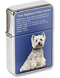 West Highland White Terrier mechero con tapa en una Lata De Regalo