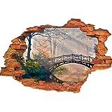 Elebeauty Stickers Muraux 3D Pont Paysages Stickers Muraux Enfant Autocollants Décoratifs Muraux Décor pour Chambre à coucher Amovible Mur DéCalques (10)