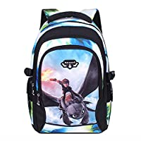 BIRDEU How to Train Your Dragon Backpack Large Capacity Rucksack Adult School Bag for Movie Cosplay Costume Accessories