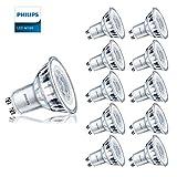Philips 72841300 Ampoule LED GU10 4,6 W 390 lm Ampoule halogène 50 W Lumière du jour 6500 K Angle de faisceau 36° Durée de vie 15000 heures Lot de 10 Porte-clés DEVOLA LED.