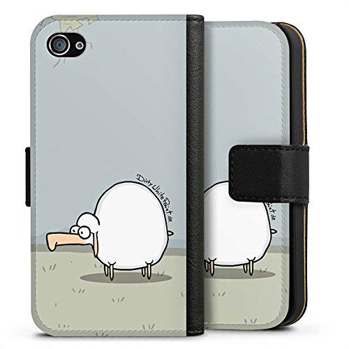 Apple iPhone X Silikon Hülle Case Schutzhülle DirtyWhitePaint Fanartikel Merchandise Günther das Schaf Sideflip Tasche schwarz