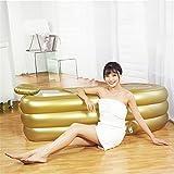 Pumpink Goldgröße 168 * 78 * 48cm, mit elektrischer Pumpe, die neue verdickte Badewanne, erwachsener faltender drei Schicht-Badekurort Wanne, Bad-Fass