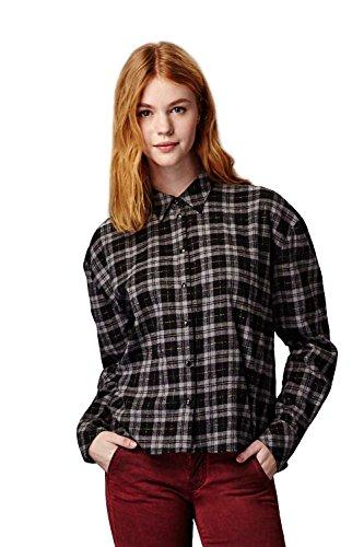 Meltin'Pot - Camicia CLEOP T1002-RW000 modello western fantasia a quadri per donna - taglia small