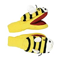 Kidorable Kids Knitted Gloves/Mittens (Bee)