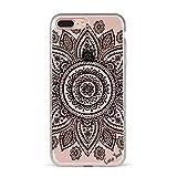 iPhone 8Plus/7Plus Clear Case, caseyard Slimfit Hybrid Modische Fall Klar, Made in California (iPhone 8Plus/7Plus), Black Mandala