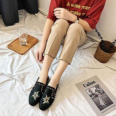 Rtry Femme Sandales Maria Semelles Légères Pu Été Vêtements De Sport Casual Semelles De Marche Marylight Boucle Talon Plat Blanc Noir Plat Us6.5-7 / Eu37 / Uk4.5-5 / Cn37