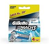 Gillette Mach 3 Turbo Manual Shaving Razor Blades - 4s Pack (Cartridge)