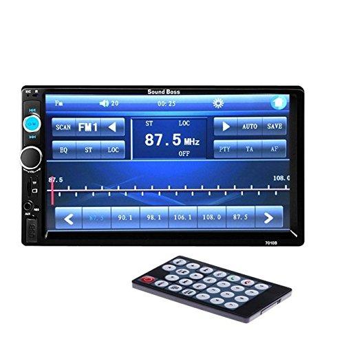 "soundboss 2din bluetooth car video player 7'' hd touch screen stereo radio fm/mp3/mp4/mp5/audio/usb/tf/aux/rear view camera connectivity SoundBoss 2Din Bluetooth Car Video Player 7"" HD Touch Screen Stereo Radio FM/MP3/MP4/MP5/Audio/USB/TF/AUX/REAR VIEW CAMERA Connectivity 51aRY11jakL"