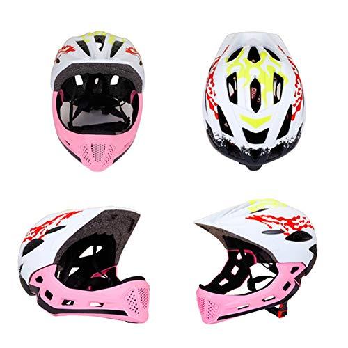 HS-GUANLY Reiten Im Freien Integraler Fahrradhelm Aerodynamische Bewegung Nicht Integrierter Helm PC Rennrad Mountainbike CE-Zertifizierung Belüfteter Mountainbike-Helm,Pink,S50~53cm -