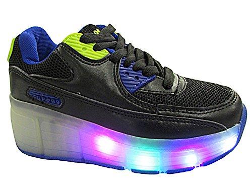 Foster Footwear , Jungen Damen Mädchen Unisex Kinder Kurzschaft Stiefel  Schwarz / Blau