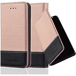 Cadorabo Coque pour Apple iPhone 5 / iPhone 5S / iPhone Se en Rose Noir - Housse Protection avec Fermoire Magnétique, Stand Horizontal et Fente Carte - Portefeuille Etui Poche Folio Case Cover
