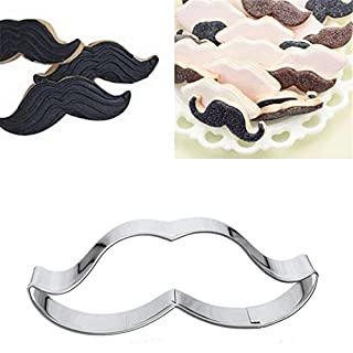 acmebuy £ ¨ TM) 1 PCS Schnurrbart Lippenstift Cupcake Lip Form Metall Cookie Cutter Biscuit Cookie Form Mousse Ring Form Lip