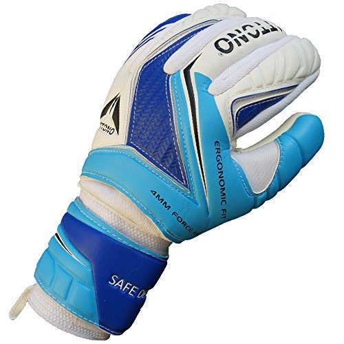 """ATTONO Profi Torwarthandschuhe """"Safe Defence"""" Torwart Handschuhe mit Fingersave - Größe 9"""