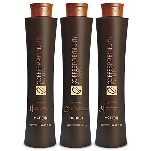 Coffee Premium All Liss 3-step Keratin Hair Treatment (1 Litre) - Honma Tokyo