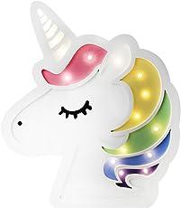 EZ Life Unicorn Face Nursery Decor Wooden Wall Hanging LED Light Decorative Item for Kids