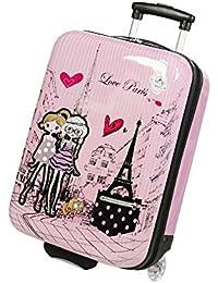 Valise enfant/fille ROSE LOVE PARIS 2031 ABS 50CM