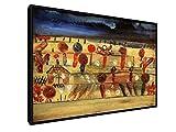 Paul Klee - Garten in der Ebene II - 1920-60x40 cm - Leinwandbild mit Schattenfugenrahmen - Wand-Bild - Kunst, Gemälde, Foto, Bild auf Leinwand mit Rahmen - Alte Meister/Museum