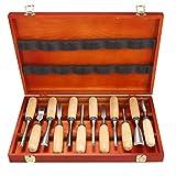 meditool 12 Stücke Schnitzmesser perfekt Schnitzwerkzeug mit schmale Messer -Blatt